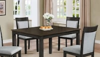 CHARLIE DARK ESPRESSO RECTANGLE 5 PACK DINING SET Corona