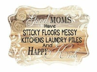 All for Mom - Wood Plaque with Burlap Flower