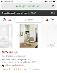 Arc Floor Lamp ~ Project 62 ( Silver )