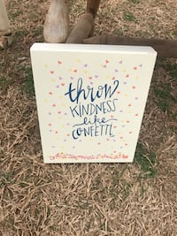 white throw kindness like confetti painting Piedmont, 73078