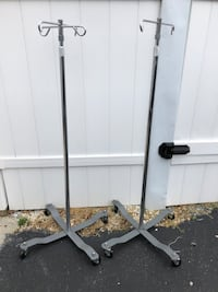 Medical poles and  tub seat. FREE