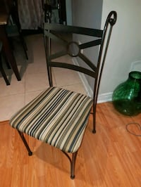 4 heavy metal chairs $60 for all Caledon, L7E