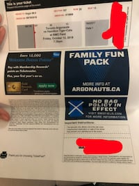 two black and white tickets Toronto, M6A 1T8