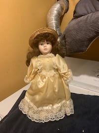 "Porcelain doll 14"" tall # 67637 Jessup, 20794"