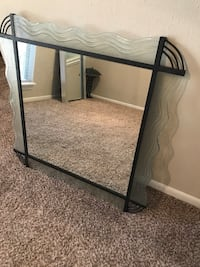 Wrought Iron & Frosted Glass Mirror Houston, 77042