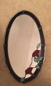 Oval stained Glass Mirror