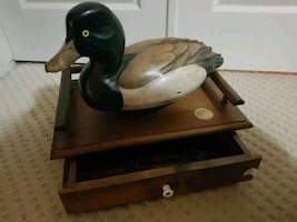 Ducks Unlimited Wood Decoy Desk Organizer