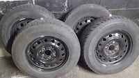 Goodyear winter tires with 16 in rims.