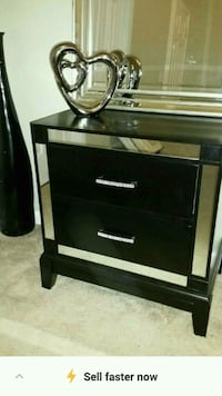 black and gray wooden 2-drawer chest Indian Trail