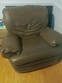 Pair Of Brown Leather Recliners