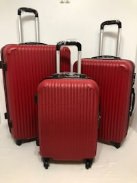 3-PC HARDSIDE SPINNER LUGGAGE SET ( RED ) Dallas, 75234