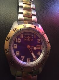 Stainless steel and gold invicta watch