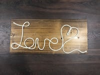 "Handmade with ""LOVE"" decor sign."