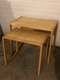 SET OF WOODEN NESTING TABLES North Dumfries, N0B 1E0