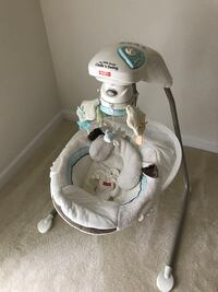 white and gray Fisher-Price cradle n swing Aldie, 20105