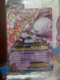 Mewtwo mega ex card $10 value for only $5 Hamilton, L8H 1M9