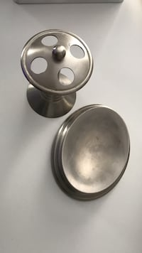 Stainless steel tooth brush and soap caddies .. bathroom accessories  Laval, H7W