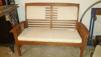 white and brown wooden bed frame Lawrenceville, 30043