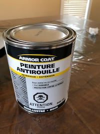 New Armor Rust paint black/ peinture anti rouille