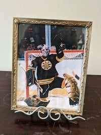 Framed Gerry Cheevers photo