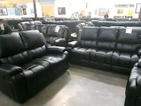 black leather tufted sectional sofa Dallas, 75287