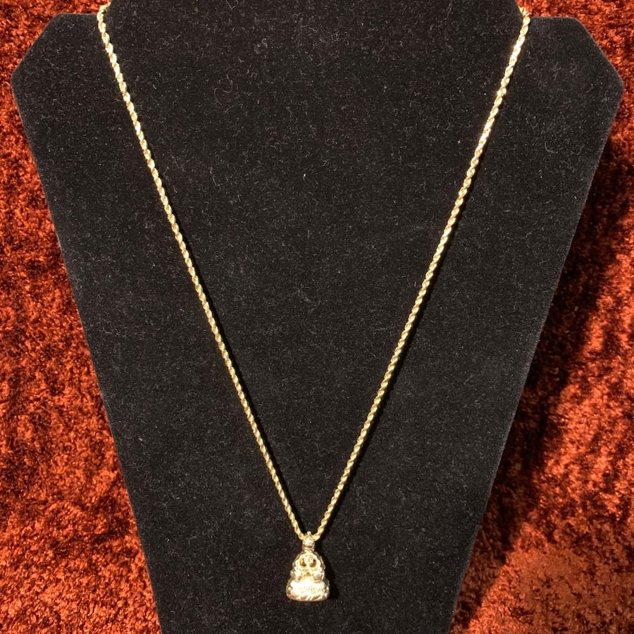 Antique 14k Yellow Gold Watch Fob Pendant with 14k Rope Chain b122fbb5-9492-411e-9f4f-7eab99a45965