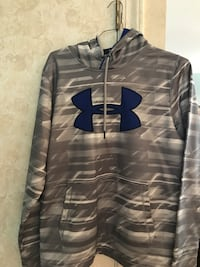 gray and blue Under Armour pullover hoodie Mobile, 36608