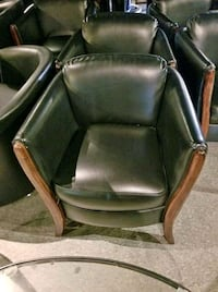 brown leather padded rolling armchair Orangeville, L9W 6Z7