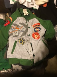 White and green  cars button-up jacket size 5-6 Carson, 90745