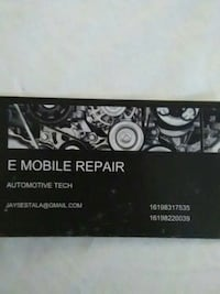 Used e mobile repair business card for sale in chula vista letgo e mobile repair business card chula vista 91910 reheart Images