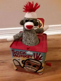 Plush Sock Monkey Jack in the Box Metairie, 70005