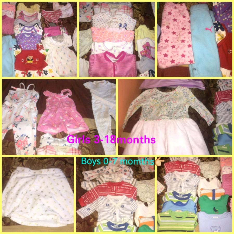 boy and girls baby clothes