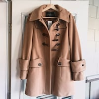 Wool camel pea coat jacket XS brand new with tags North Vancouver, V7H 2T5