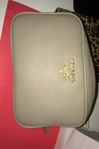 Authentic prada pouch grey leather gold hardware Toronto, M6B 1A9