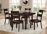 brown wooden dining table set Brampton, L6P 3E6