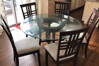 Glass top table with 6 chairs Olney, 20832
