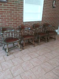 brown wooden dining table set Knoxville