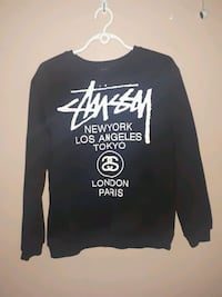 Stussy Black Pullover Sweater  Newmarket