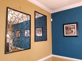 Large Decorative Mirrors w/Wall Anchors