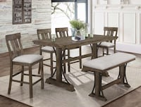 Quincy Rustic Brown Counter Height Dining Set | 2831 Richmond, 77407