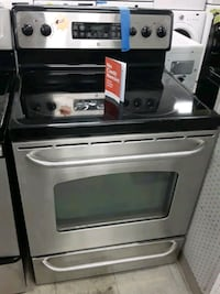 Ge glass top stainless steel Stove in good condition