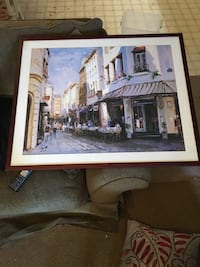 Downtown Picture with glass frame