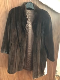 Real Shaved Black Diamond Mink Fur Coat