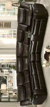 ! Bastrop Brown Leather Gel Match Reclining Sectional Baltimore, 21201