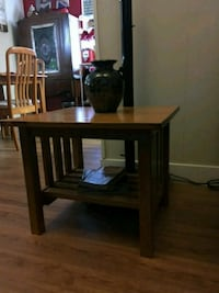 brown wooden 2-layer side table San Diego, 92110