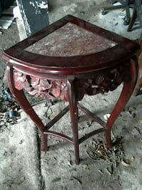 round brown wooden side table Dallas, 75253