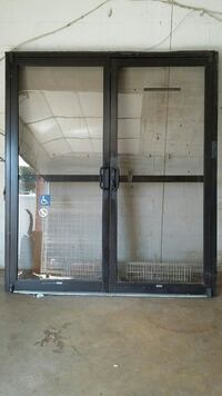 Security door and 4-3x8 windows from bank Ben Wheeler, 75754