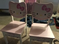 white and red Hello Kitty table with chairs 2282 mi