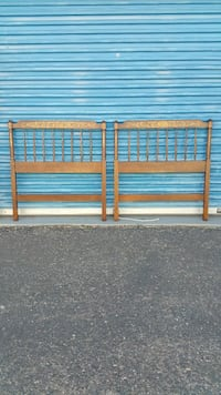 2 TWIN SIZE HEADBOARDS BY L HITCHCOCK
