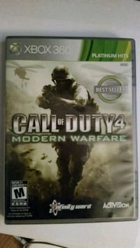 Call of Duty 4 Modern Warfare Xbox 360 game case Edmonton, T6K 1W5